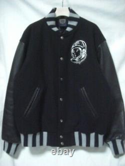 2007 Billionaire Boys Club Bbc Helmet Varsity Jacket Sleeve Leather Stajan