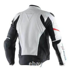 2016 MV Agusta Leather Motorcycle Jacket 100% Cowhide Leather