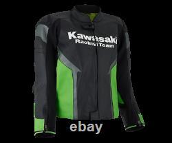 2021 New Genuine Kawasaki Racing Team Motorcycle Zx-10rr Ninja Leather Jacket