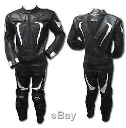 2-Piece-Motorbike/Motorcycle Cowhide Leather Jacket, Pant-SUIT Racing Biker-MotoG