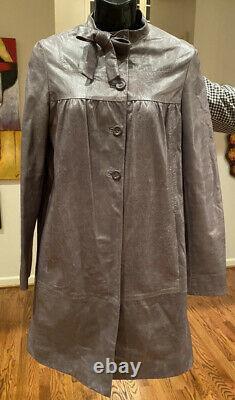 $4,010 PRADA Miu Miu 2014 Distressed Leather Jacket 36 38 40 2 4 6 Top Coat S M