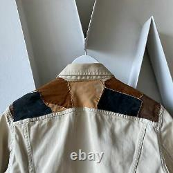 60s 70s Lee Westerner Large leather patches modified cow boy white RARE