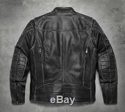 97138-17vm Harley-davidson Men's Tifton Leather Jacket New