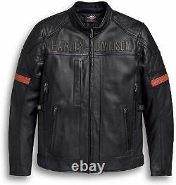 98000-20em Men's Vanocker Waterproof Genuine Leather Biker Style Motorbikejacket