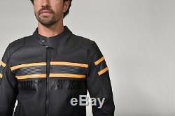 98007-20em Harley-davidson Men's Venting Sidari Black Leather Jacket New