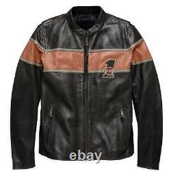 98027-18em Harley-davidson Men's Victory Lane Ce Certified Leather Jacket New