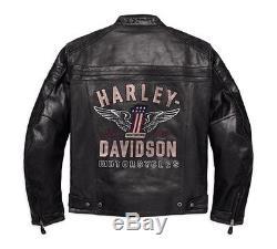 98121-17em Harley-davidson Men's Genuine Classic Leather Jacket New
