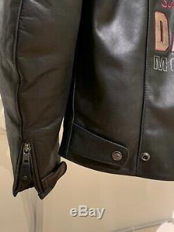 98121-17em Harley-davidson Men's Genuine Classic Leather Jacket Size Large