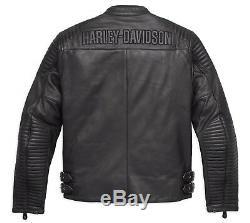 98126-17em Harley-davidson Men's Urban Leather Jacket New