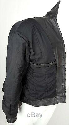 AMHERST Collection Textured Leather Jacket Men S XS Boy Youth Button Cuff Black