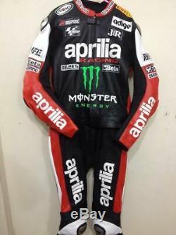 APRILIA Motorbike/Motorcycle Leather Suit Men Racing Biker Leather Jacket Pant