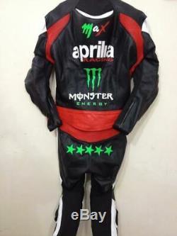 APRILIA Motorcycle Biker Racing Leather Suit Motorbike Leather Jacket Trouser