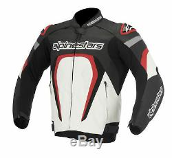 Alpinestars Alpinestar Motegi Motorcycle Motorbike Leather Jacket Black Red NEW