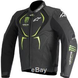 Alpinestars Alpinestar Xyon Monster Motorcycle Motorbike Leather Jacket Black