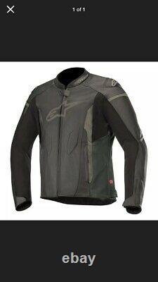 Alpinestars Faster Motorcycle Motorbike Leather Sports Jacket Black Eu54 UK44