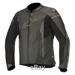 Alpinestars Faster Motorcycle Motorbike Leather Sports Jacket Black NEW