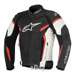 Alpinestars GP Plus R V2 Motorcycle Leather Jacket Black / White / Red UK 46