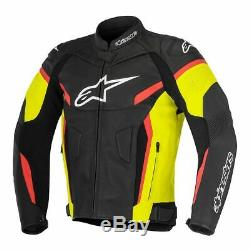 Alpinestars GP Plus R V2 Motorcycle Leather Jacket Yellow / Black / Red