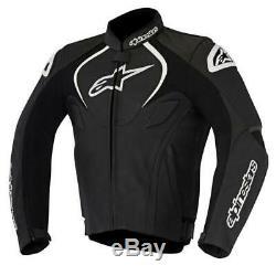 Alpinestars Jaws Motorcycle Motorbike Leather Jacket Black NEW