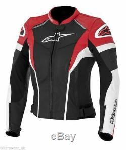Alpinestars Stella Gp Plus R Women/Ladies Bike Leather Jacket Red/White/Black
