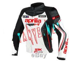 Aprilia Brand New Motorcycle Riding Motorbike Racing Leather Jacket