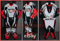 Aprilia Custom Made Racing Motorbike 1 and 2 Piece Motorcycle Biker Leather Suit