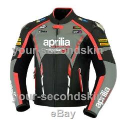 Aprilia Custom motorbike motorcycle biker racing leather jacket all sizes