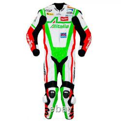 Aprilia Men Street Racing CE Protective Armour Leather Motorcycle Jacket Suit