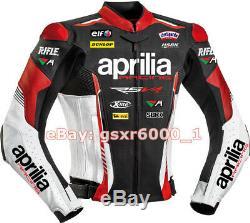 Aprilia Motorbike Leather Jacket Motogp Motorcycle Racing Jacket REAL LEATHER