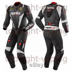 Aprilia Motorbike Racing Suit Waterproof Motorcycle Jacket Trouser Leather