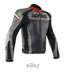 Aprilia Motorcycle Leather Jackets Men Motorbike Jacket Cowhide Leather Suit