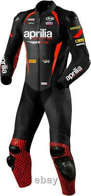 Aprilia Motorcycle Street Racing Riding CE Protective Armour Leather Jacket Suit
