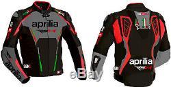 Aprilia RSV4 Motorcycle Leather Jacket Motorbike Racing Leather Jacket All Sizes