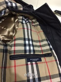 Auth. Burberry Boy Genuine Leather Long Jacket BNWT