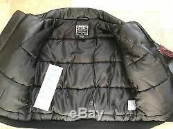 Authentic AVIREX Leather Jacket Youth Size 8 High Quality Black Red Very Rare