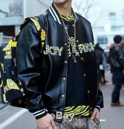 Authentic Joyrich Simpson Bad Boy Leather Varsity Jacket UNISEX Size L