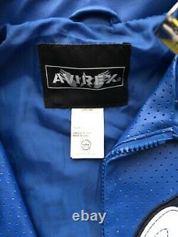 Avirex blue faux Leather Kids Jacket Size Large
