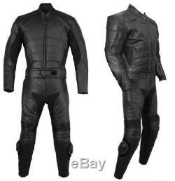 BATMAN-Motorbike/Motorcycle 2 PC-Cowhide Leather Jacket, Pant-SUIT Racing Biker