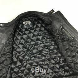 BBC BILLIONAIRE BOYS CLUB WOLFMAN Black Leather Motocycle Jacket Medium