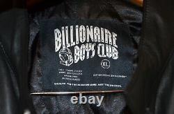 BBC BILLIONAIRE BOYS CLUB WOLFMAN Pharrell's 40th Black Leather Moto Jacket XL