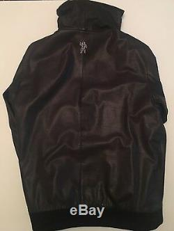 BBC Billionaire Boys Club Real Leather Hoodie Rare Collector Item 100% Authentic