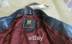 BELSTAFF Limited Mutt Indiana Jones Black Calf Leather, Boys jacket/coat size 8