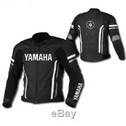 BLACK YAMAHA Motorbike/Motorcycle Leather Jacket Racing Biker Leather Jackets