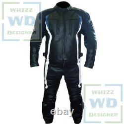 BMW 3876 BLACK Cowhide Suit Motorcycle Motorbike Biker Leather Jacket Trouser
