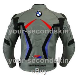 BMW Custom motorbike motorcycle biker racing leather jacket all sizes