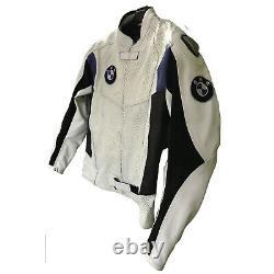 BMW Mens Motorbike Leather Jacket MOTOGP Motorcycle Racing Biker Leather Jackets