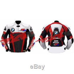 BMW Motorrad SRR1000 Motorcycle Motorbike CE Armour Leather Biker Jacket