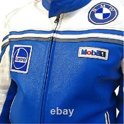 BMW Racing Mens Motorcycle Biker Leather Jacket Motorbike Leather Jackets