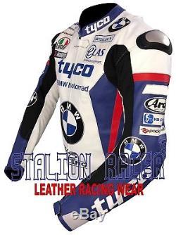 BMW TYCO Motogp Motorbike Racing Cowhide Leather Jacket/ Cuero Chaquetas
