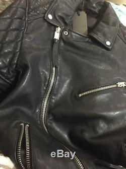 BNWT ALLSAINTS Size M BOY SON Biker Black Leather Jacket -RRP £345.00